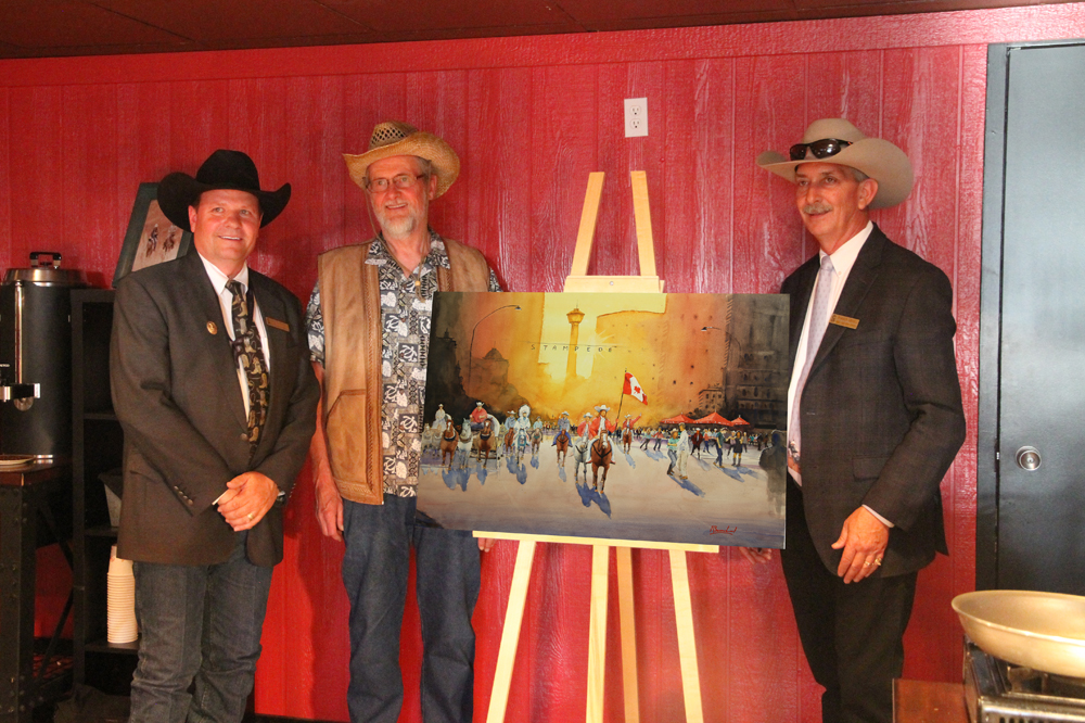 Rex Beanland, With Vice Chair, Dana Peers and CEO, Warren Connell, Stampede Presentation