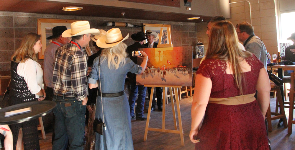 Rex Beanland, There was a lot of interest in the painting, Stampede Presentation, Stampede Presentation