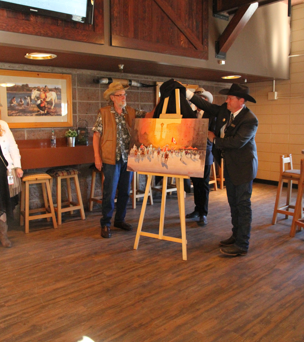 Rex Beanland, Unveiling The Painting, Stampede Presentation