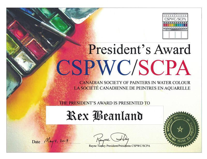 Rex Beanland, Presidents Award