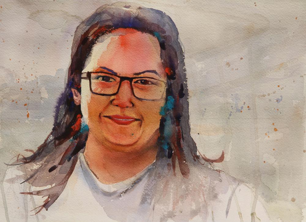 Rex Beanland, Sasha, watercolour, 11 x 15