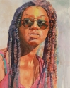 Rex Beanland, Black Girl, watercolour, 15 x 21