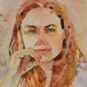 Rex Beanland, Determination , watercolour, 12 x 9