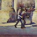 Rex Beanland, A Glance At Stephan Ave, watercolour, 12 x 16