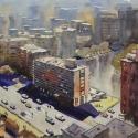Rex Beanland, Winnipeg From 32nd Floor, watercolour, 15 x20