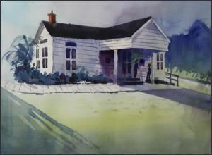 Rex Beanland, Historic Florida Building, watercolour, 16 X 12