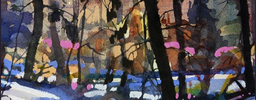 Rex Beanland, Elbow Creek Colours, watercolour, 9 X 12