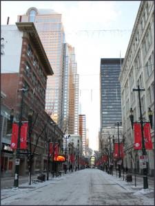 Rex Beanland, photo of 8th Ave, Calgary
