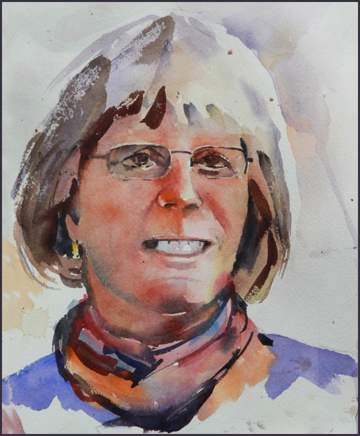 Rex Beanland, Susan, watercolour 7 x 9