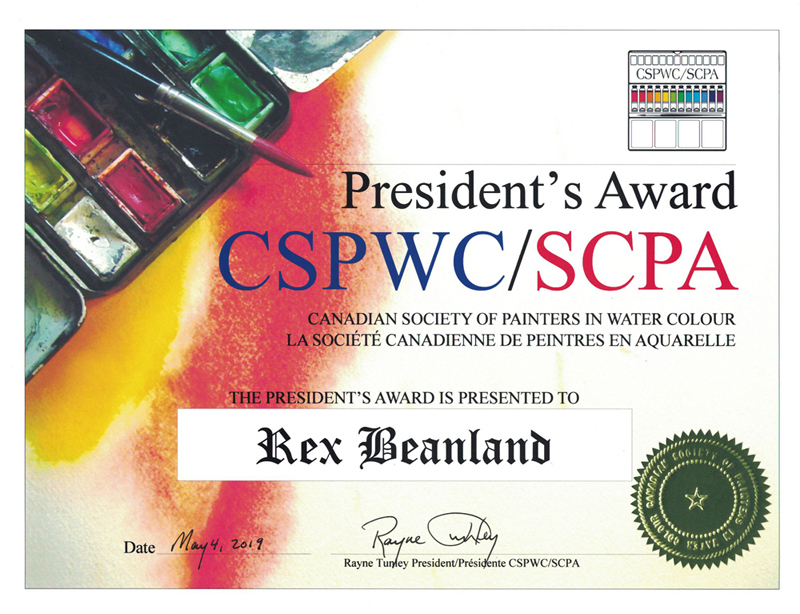 Rex Beanland, Presidents Award