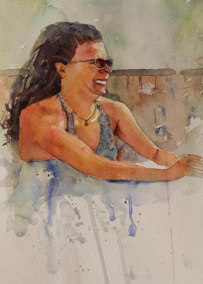 Rex Beanland, Karin, Inuvik, watercolour, 11 x 15
