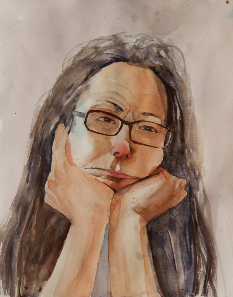 Rex Beanland, Claire, watercolour, 9 x 12