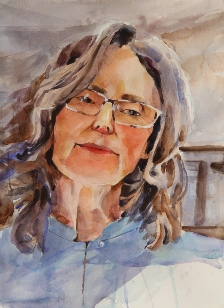Rex Beanland, Mary Ellen, watercolour, 12 x 15