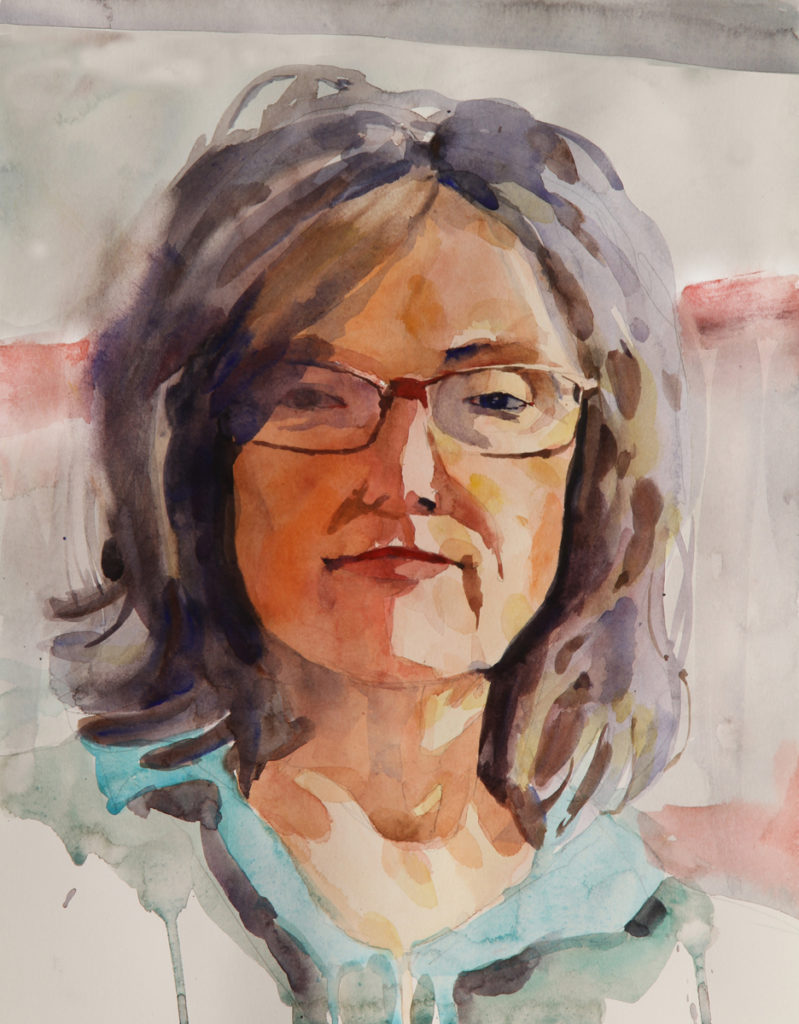 Rex Beanland, Mary Ellen 2, watercolour, 12 x 15