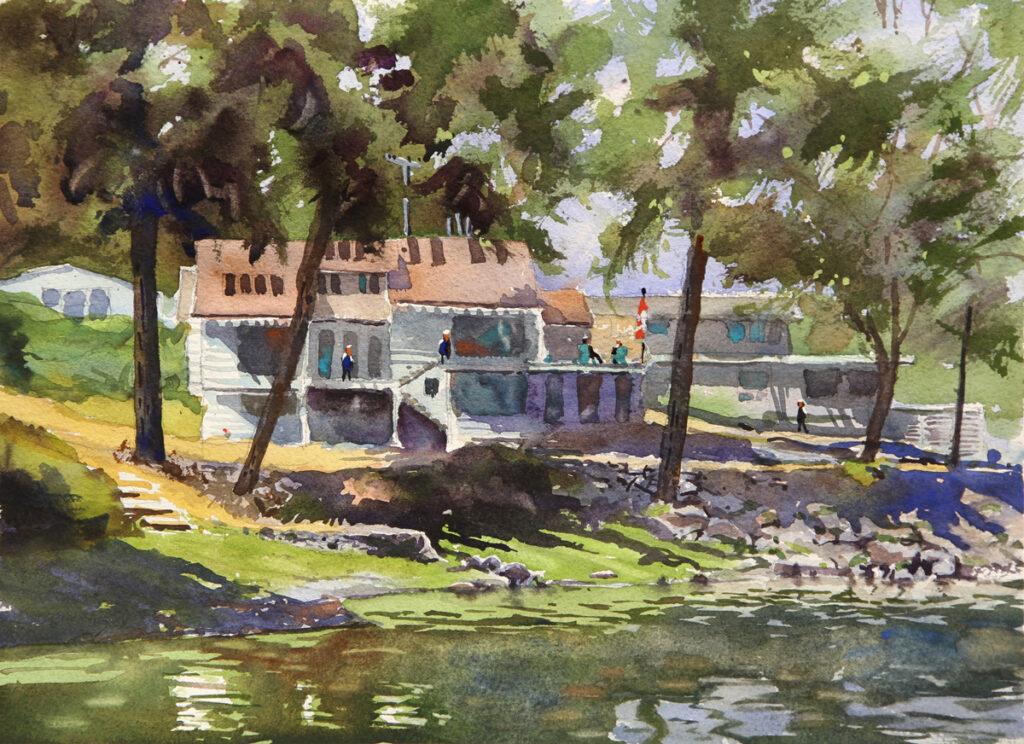 Rex Beanland, Pender Harbour, watercolour, 11 x 15